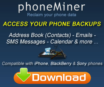 phoneMiner - Recover phone data